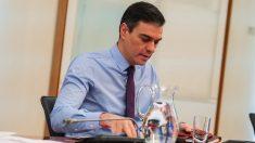 Pedro Sánchez en La Moncloa. (Foto: PSOE)