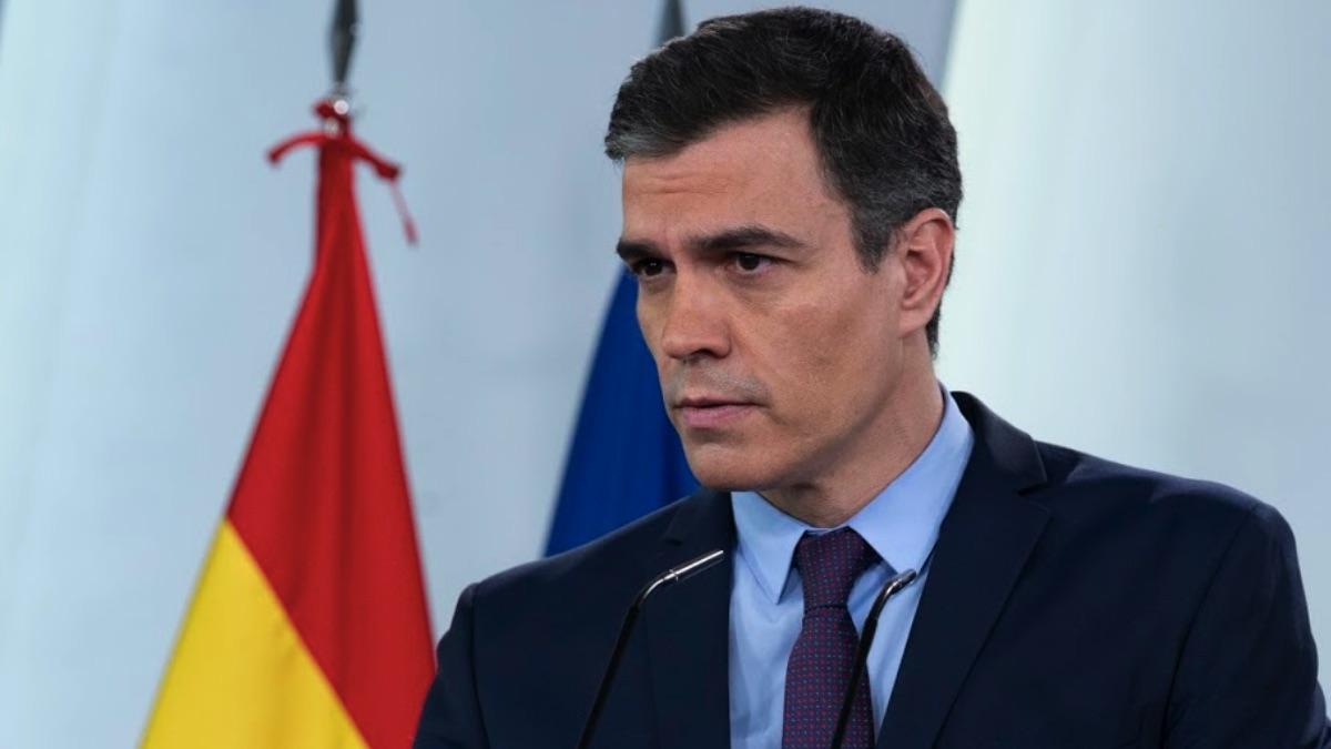 Pedro Sanchez en rueda de prensa telemática en La Moncloa. (Foto: PSOE)