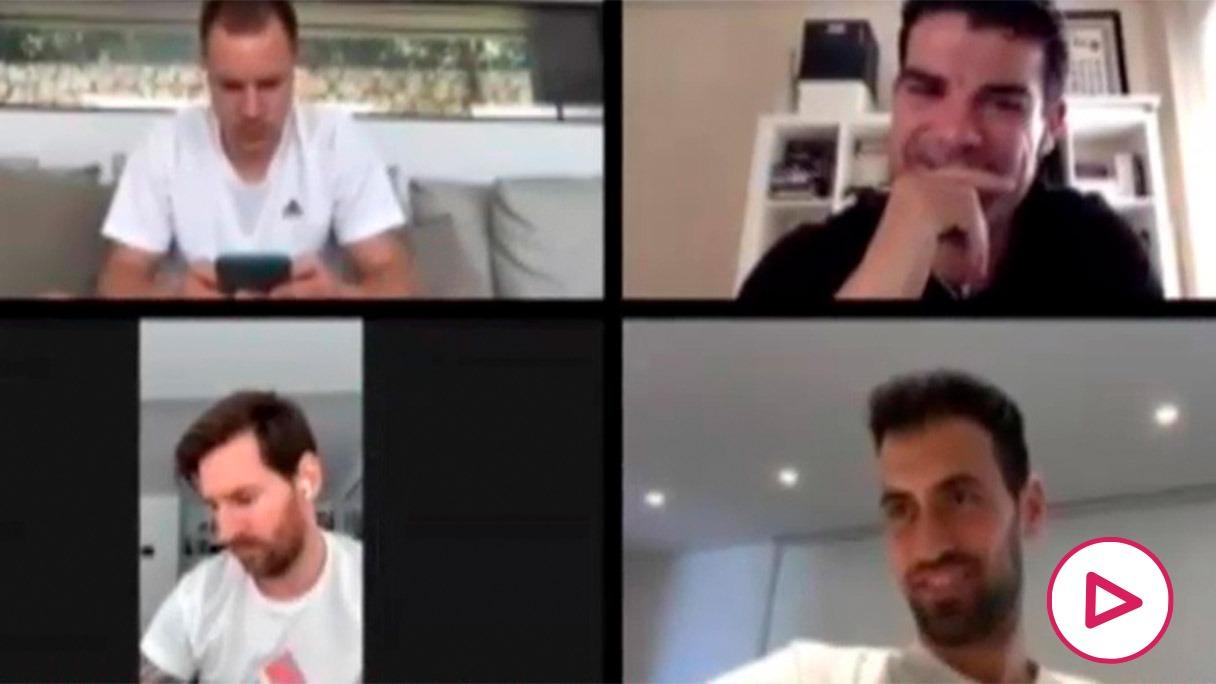 Bartomeu se reunió con algunos jugadores por vía telemática.