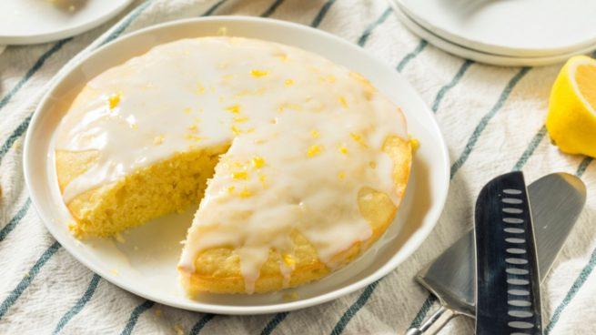 Receta de bizcocho de harina de maíz y limón