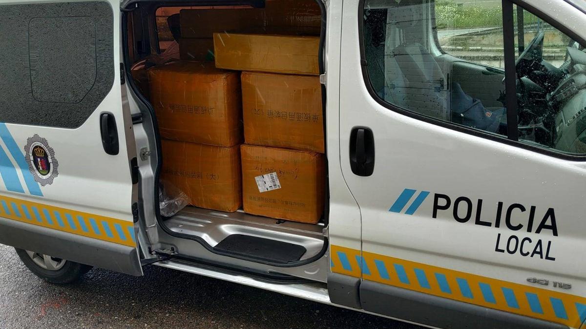 la Policía requisa 35.000 mascarillas sin homologar y de procedencia desconocida