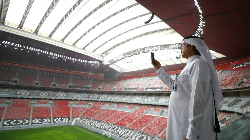 Una imagen del estadio Al Bayt, sede del Mundial de Qatar 2022. (Getty)