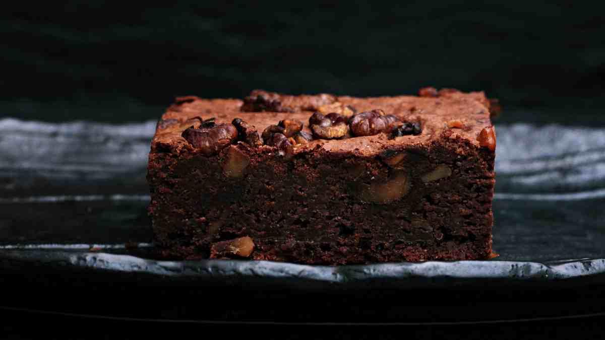Receta de Brownie de plátano y chocolate al microondas