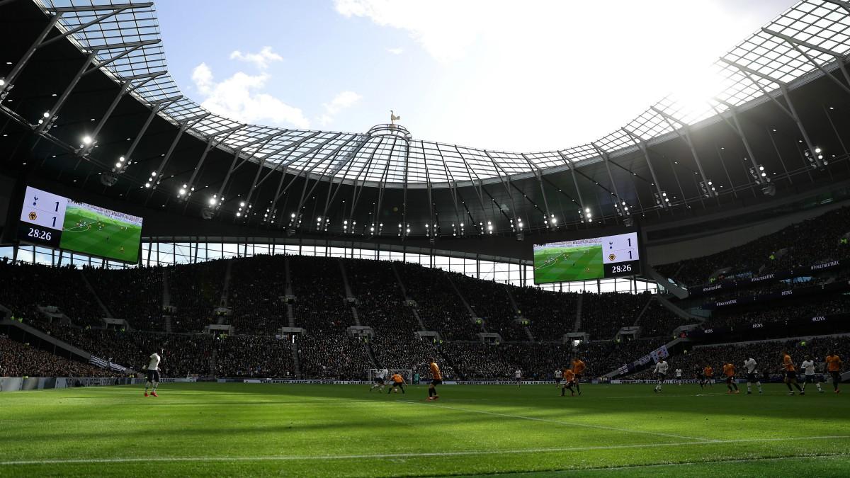El estadio del Tottenham, durante un partido de Premier League. (Getty)