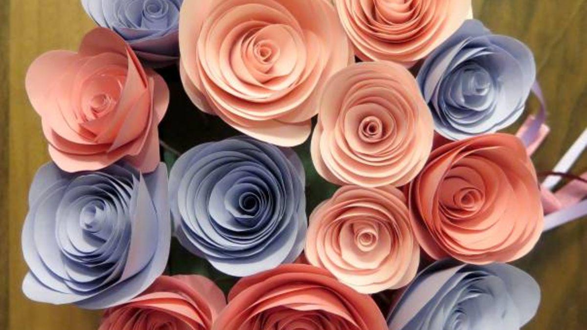 Descubre cómo hacer un ramo de flores de papel para el Día de la Madre
