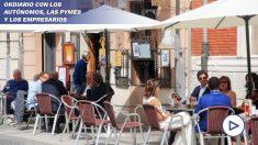 Terraza del restaurante La Solana en el centro de Valladolid