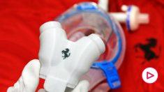 Así son las válvulas para ventiladores pulmonares que prepara Ferrari. (Foto: ferrari.com)