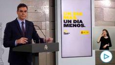 El presidente del Gobierno, Pedro Sánchez, en rueda de prensa.