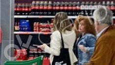 Díaz, en el supermercado, sin cumplir las medidas de seguridad.