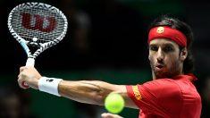 Feliciano López, en un partido de Copa Davis. (AFP)