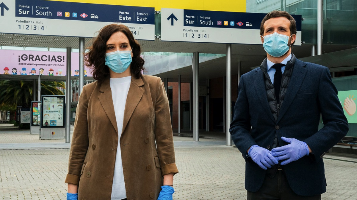 Isabel Diaz Ayuso y Pablo Casado. (Foto: PP)