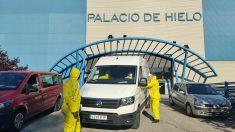 El Palacio de Hielo de Madrid, habilitado como gran morgue en la crisis del coronavirus.
