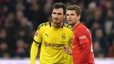 Hummels y Müller durante un Bayern-Borussia Dortmund esta temporada. (AFP)