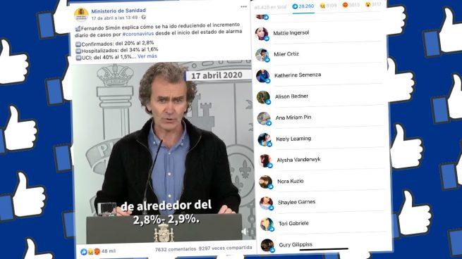 Interacciones con el vídeo de Simón