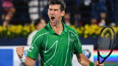 Novak Djokovic celebra una victoria. (AFP)