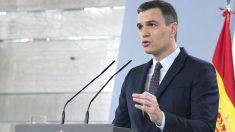 El presidente del Gobierno, Pedro Sánchez, durante una comparecencia en Moncloa para informar sobre el coronavirus. (Foto: Europa Press)