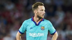 Rakitic, durante un partido del Barcelona (Getty).