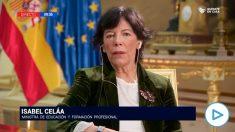 Isabel Celaá en una entrevista en TVE: «No podemos aceptar que haya mensajes negativos, mensajes falsos en definitiva».
