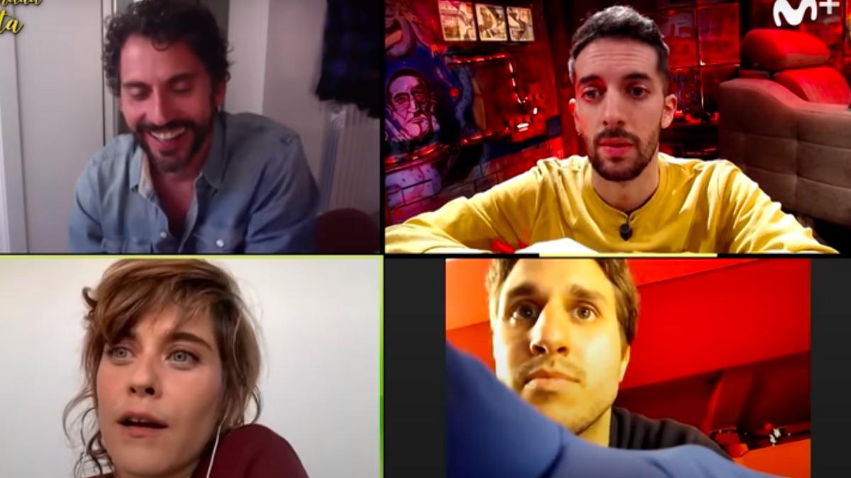 David Broncano entrevista por videollamada a Paco León y María León