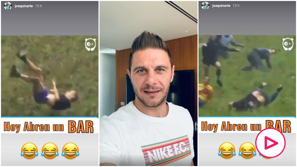 La broma de Joaquín en Instagram sobre los bares.