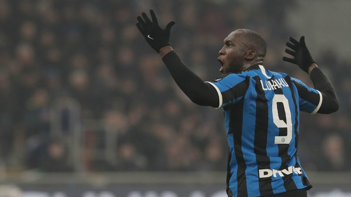 Lukaku, en un partido del Inter. (Getty)