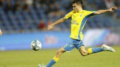 Pedri, durante un partido con la Unión Deportiva Las Palmas. (udlaspalmas.es)