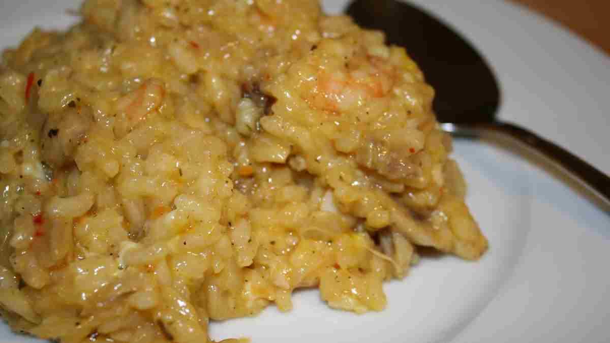 Receta de risotto de brócoli y langostinos