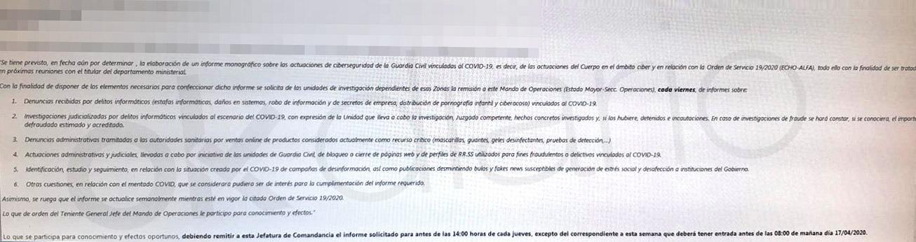 Interior anula la orden de controlar los «bulos» que crean «desafección al Gobierno» tras el escándalo