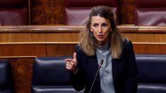 Yolanda Díaz, ministra de Trabajo, en el Congreso