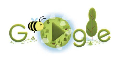 En el 50 aniversario del Día de la Tierra Google dedica un doodle a las abejas