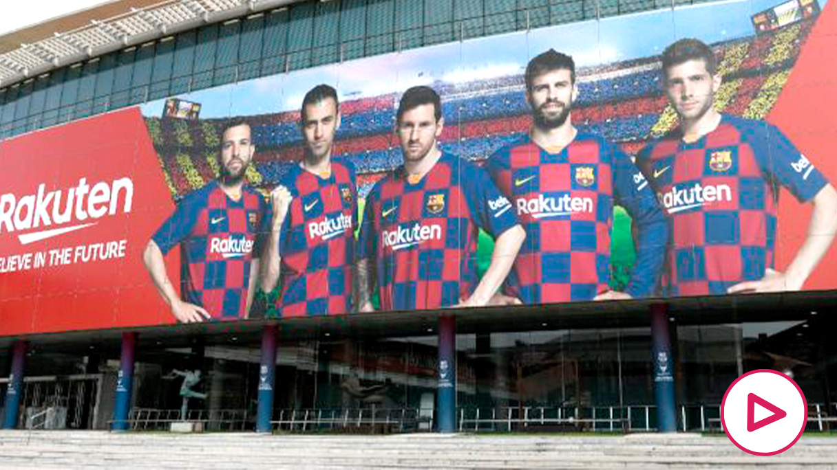 Imagen de los exteriores del Camp Nou.