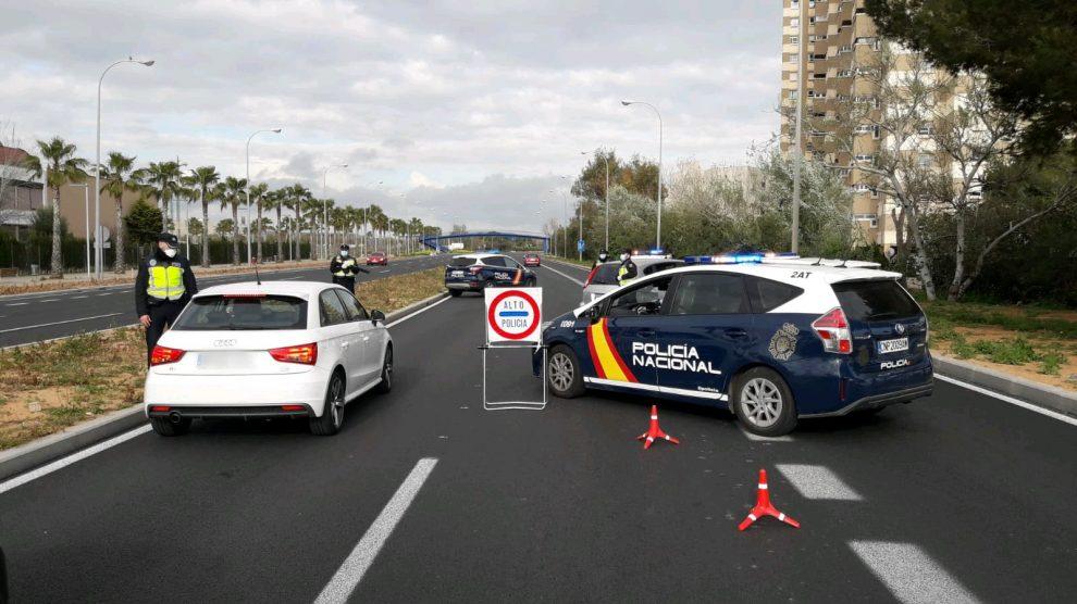 Control policial por el Estado de Alarma