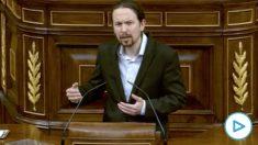 Pablo Iglesias elogiando a Bildu este miércoles en el Congreso de los Diputados.