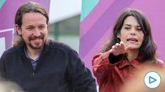 Pablo Iglesias e Isa Serra en un mitin reciente. (Foto: EP)