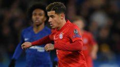 Philippe Coutinho, durante un partido ante el Chelsea con la elástica del Bayern Múnich. (Getty)