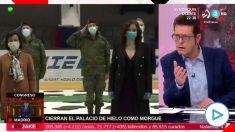 El programa 'En Jake' de la televisión pública vasca EiTB se mofa del homenaje a las víctimas del coronavirus en la morgue del Palacio de Hielo de Madrid.