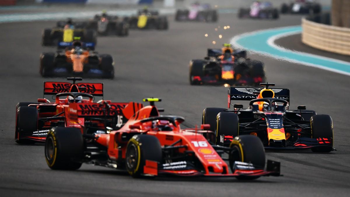 Leclerc y Verstappen lideran el tren en el GP de Abu Dhabi. (Getty)