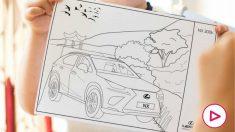 Uno de los dibujos de Lexus para colorear. (Lexus)