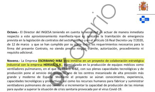 Pacto del Gobierno con la empresa de respiradores que Sánchez visitó en Móstoles.