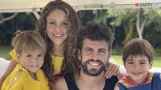 Shakira y Gerard Piqué con sus hijos