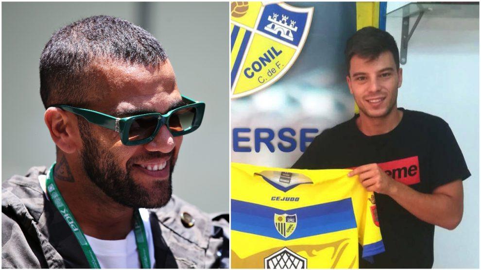 Dani Alves y Pablo Molina, en fotos de archivo.