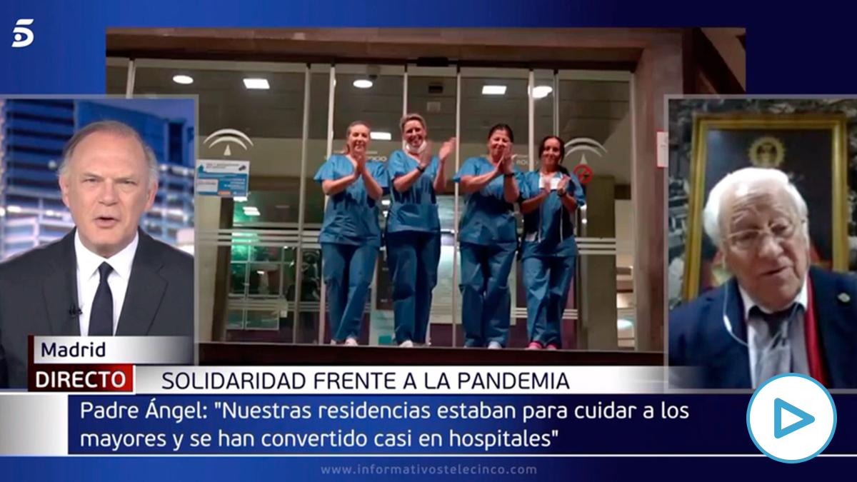 El Padre Ángel pide el premio Princesa de Asturias para los sanitarios… ¡¡¡y el Gobierno!!!