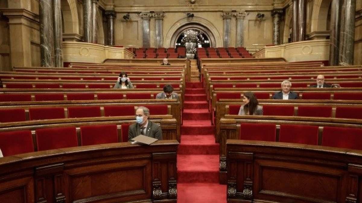 Quim Torra en el Parlament. Foto: EP