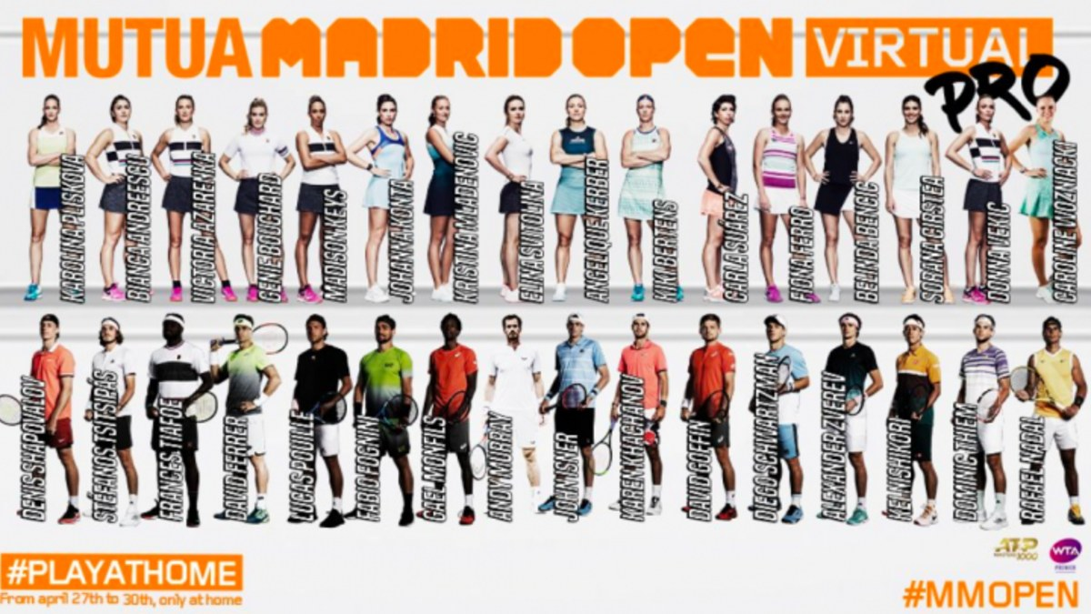 Participantes del Mutua Madrid Open Virtual Pro 2020