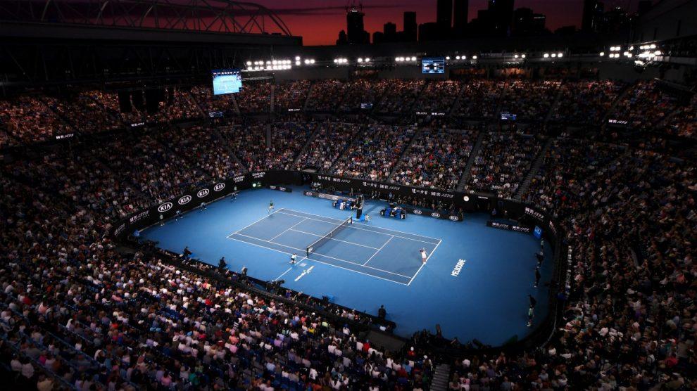 Imagen de la Rod Laver Arena durante la final de la pasada edición del Open de Australia. (Getty)