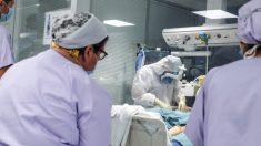 Enfermo de coronavirus en un hospital de Valencia. (Foto: Europa Press)