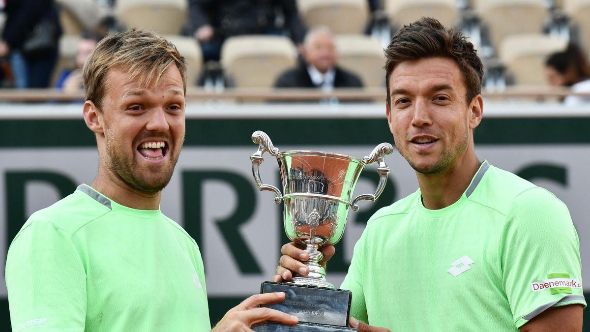 Kevin Krawietz y Andreas Mies, campeones de Roland Garros 2019. (AFP)