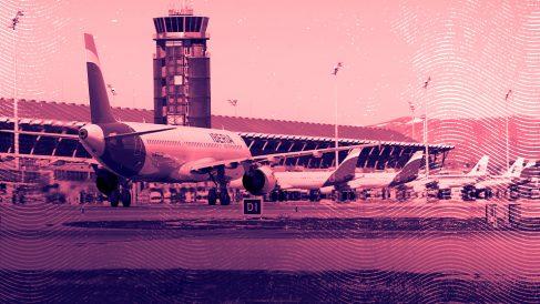 Líneas aéreas.