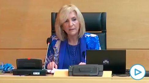 La consejera de Sanidad de Castilla y León, Verónica Casado, rompe a llorar por los sanitarios fallecidos.