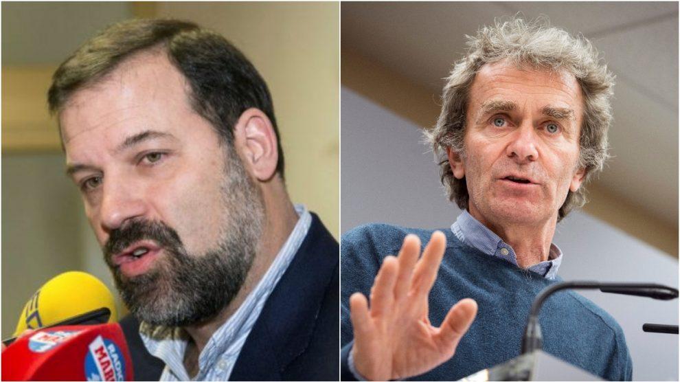 Alfonso Reyes y Fernando Simón, en imágenes de archivo.